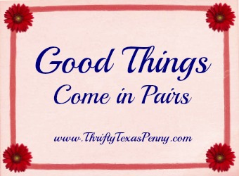 good things come in pairs thrifty texas penny