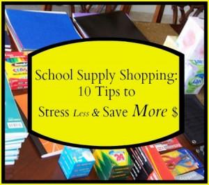 school supply tips