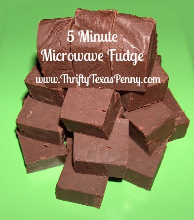 5 minute microwave fudge